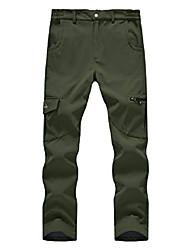 cheap -men's outdoor waterproof softshell hiking pants fleece lined winter thermo walking ski pants size 44, green