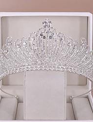 cheap -Wedding Bridal Rhinestone / Alloy Headpiece with Crystal 1 Piece Wedding Headpiece