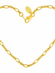 cheap -lifetime jewelry 2mm figaro link anklet for women & girls 24k real gold plated (10)