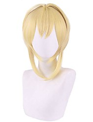 cheap -Cosplay Wig Straight With Bangs Wig Short Blonde Synthetic Hair 12 inch Women's Anime Cosplay Exquisite Blonde