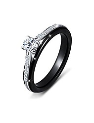 cheap -ceramic s925 sterling silver rings bands engagement wedding rings for women jewelry 8