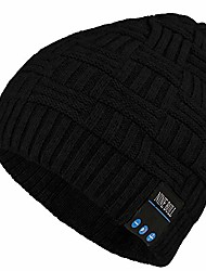 cheap -wireless bluetooth beanie, men women winter warm usb rechargeable bluetooth beanie wireless headphone building-in microphone and hand free calling, suitable for outdoor sport