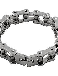 cheap -stainless steel biker motorcycle chain bracelet 18mm size 10