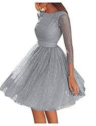 cheap -Women's A Line Dress Short Mini Dress Light Gray Apricot Light Pink Sleeveless Solid Color Fall Spring Party / Evening Gloves 2021 S M L XL 2XL 3XL