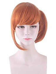 cheap -Cosplay Costume Wig Unsuccessful Natural Straight With Bangs Wig Short Orange Synthetic Hair Women's Anime Cosplay Party Orange