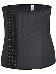 cheap -waist trainer latex smooth latex big buckle 25 steel bone rubber corset shapewear
