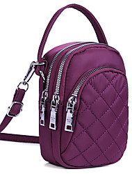 cheap -women nylon multi-pocket phone purse lingge crossbody bag