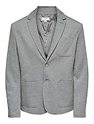 cheap -male blazer mark mmedium grey melange