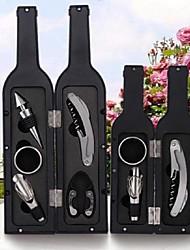 cheap -Wine Opener Kit Set Including 5 pcs Tool Stainless Steel Wine Opener Kit Pourer Wine Ring Wine Decanter Bottle Opener Cutter