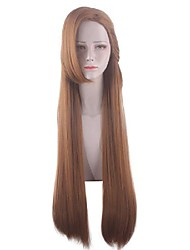 cheap -Cosplay Wig Catalina Straight With Bangs Wig Long Brown Synthetic Hair 32 inch Women's Anime Cosplay Exquisite Brown