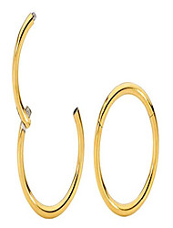 "cheap -g23 titanium 3/8"" (10mm) 18g hinged hoop segment rings sleeper earrings (yellow)"