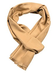 cheap -Men's Tassel Rectangle Scarf - Solid Colored Multifunctional