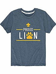 cheap -boy scouts of america icon lion - youth short sleeve graphic t-shirt heather blue