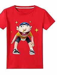 cheap -jeffy short sleeves t-shirts-children kids 100% cotton summer t-shirts cartoon tee