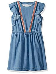 cheap -big girls' sleevless denim dress, ryder wash, large (12/14)