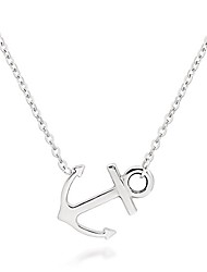 cheap -stainless steel sideways anchor necklace for women (18)