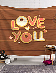 cheap -Valentine's Day Wall Tapestry Art Decor Blanket Curtain Hanging Home Bedroom Living Room Decoration Love