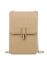 cheap -ccanyin alligator messenger bag women retro chain pu shoulder phone pouch (khaki)