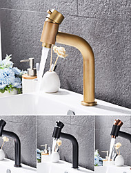 cheap -Bathroom Sink Faucet - Waterfall Antique Brass / Electroplated Centerset Single Handle One HoleBath Taps