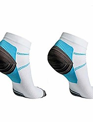 cheap -1 pair plantar fasciitis socks foot care compression men women running socks relieve pain supports heel, arch& ankle (b / w, l / xl) (size: 22x10cm)