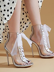 cheap -Women's Heels Stiletto Heel Round Toe Daily PU Synthetics Almond White Black