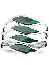 cheap -amazing waves myriad of green malachite stone sterling silver ring (6)