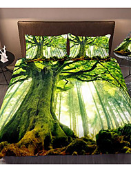 cheap -art tree print 3-piece duvet cover set hotel bedding sets comforter cover with soft lightweight microfiber, include 1 duvet cover, 2 pillowcases for double/queen/king(1 pillowcase for twin/single)
