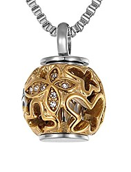 cheap -cremation jewelry urn pendant necklace with hollow diamond butterfly beads engraved 'always in my heart',rose gold