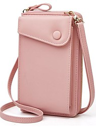 cheap -ladies crossbody bags stylish women leather wallet cute small coin purse mini shoulder bag travel clutch bag phone bag pink one_size