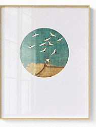 cheap -prints - landscape animals ps illustration wall art chinese style court crane paintings modern home decor stretched and framed ready to hang
