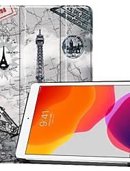 cheap -Phone Case For Apple Full Body Case iPad 7 (2019) 10.2'' iPad Pro (2018) 11'' iPad Pro (2020) 11'' Shockproof Origami Eiffel Tower PU Leather
