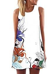 cheap -boho dresses for women,vintage a-line sleeveless 3d print tank vest beach holiday sundress short mini dress