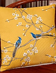 cheap -new chinese style linen blended retro pillow case cover living room bedroom sofa cushion cover modern sample room cushion cover