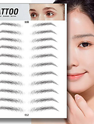 cheap -10 pcs eyebrow stickers 6d simulation eyebrow stickers semi-permanent eyebrow tattoo eyebrow stickers lazy waterproof natural eyebrow stickers