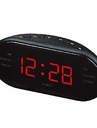 cheap -creative multifunctional led electronic alarm clock oval radio fm/am alarm clock led clock