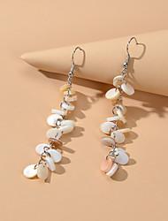 cheap -Women's Drop Earrings Fashion Holiday Boho Shell Earrings Jewelry White / Yellow For Vacation Beach