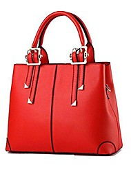 cheap -womens pu leather crossbody top-handle tote handbags red