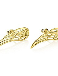 cheap -angel wing stud earrings - angel wing earrings in gold plated