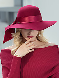 cheap -Headwear Casual / Daily 100% Wool Hats with Satin Bowknot 1pc Casual / Daily Wear Headpiece