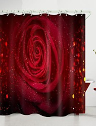 cheap -valentine's day flower color roses digital printing shower curtain shower curtains  hooks modern polyester new design