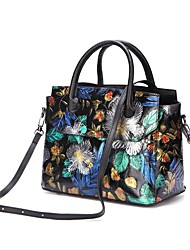 cheap -genuine leather hand-painted vintage handbag