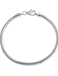 cheap -sterling silver bracelet snake chain 3mm 7 inches