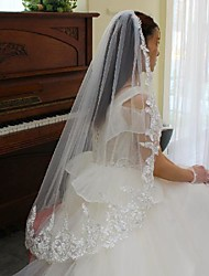 cheap -One-tier Comtemporary / Stylish Wedding Veil Elbow Veils with Solid Lace / Tulle