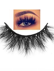 cheap -1 Pair Natural False Eyelashes 3D Mink Lashes Volume Soft Lashes Long Eyelash Extension Fake Mink Eyelashes Cilios Maquiagem Animal Wool Eyelash