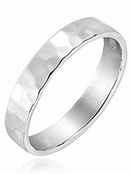 cheap -handcrafted hammer marks textured band sterling silver ring (6)