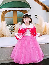 cheap -Princess Party Costume Girls' Movie Cosplay Cosplay Costume Party Purple / Yellow / Blue Shawl Christmas Children's Day New Year Polyester