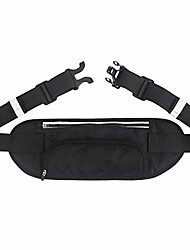 cheap -sports waist packs:water bottle holder,durable nylon,water repellence,zippered pockets, with adjustable belt strap for men, women fit for outdoor events (black)