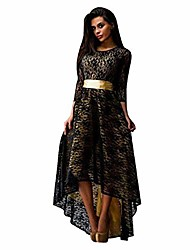 cheap -women dress sexy fashion lace evening formal party cocktail bridesmaid prom gown long dress(3xl,black)