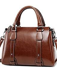 cheap -genuine leather handbag purse for women, large ladies top-handle tote crossbody shoulder bag (color : dark brown)