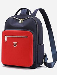 cheap -Women's Unisex Nylon Special Material Commuter Backpack Large Capacity Waterproof Zipper Color Block Sports & Outdoor Daily Backpack Black Blue Red Dark Blue